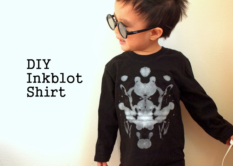 DIY Inkblot shirt for kids