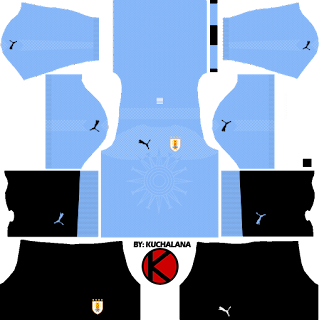 Uruguay 2018 World Cup Kits -  Dream League Soccer Kits