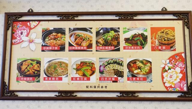 中平素食之家菜單