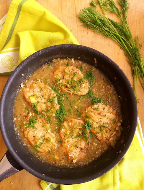 Schab w sosie chrzanowo-koperkowym / Braised Pork with Horseradish Dill Sauce