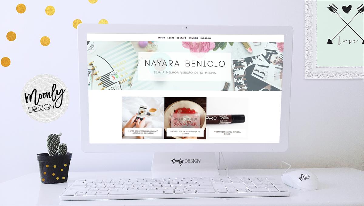 Layout de um blog