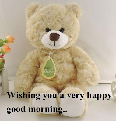 Good morning teddy bear messages and Quotes - white teddy bear