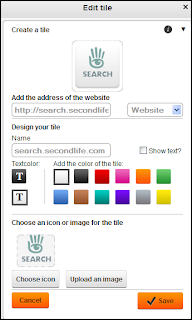 Adding tiles to a Symbaloo webmix