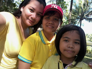 Inday Panie with her Tita Gingging and Tita Rose