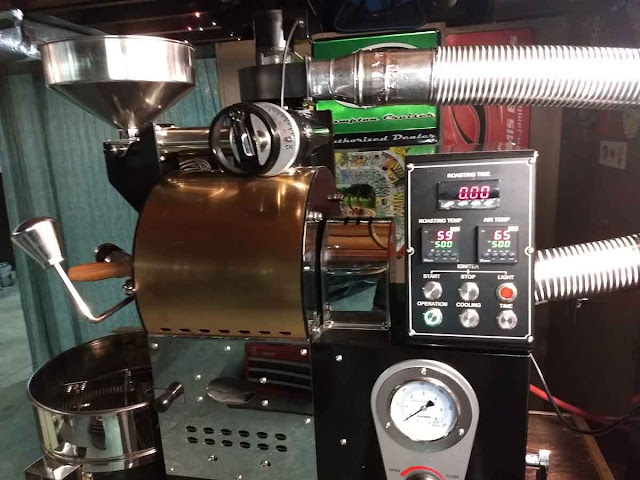 roasted locally to order fancy equipment