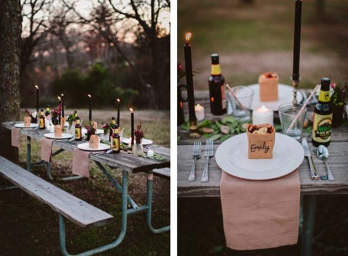 Una preciosa mesa para una comida en el campo - Mesas de campo ...