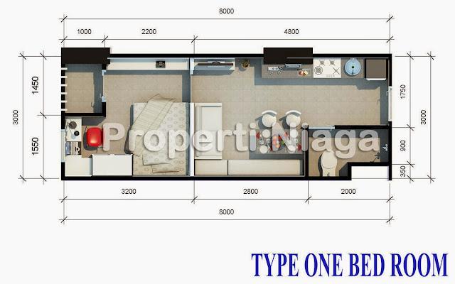 Properti-Niaga-Type-27-one-bed-room-Titanium-square-2