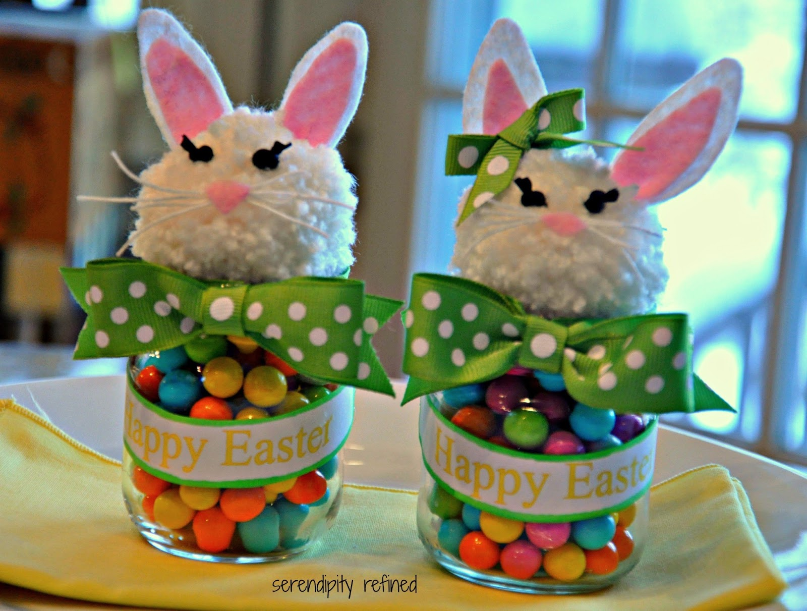 Serendipity Refined Blog Upcycled Baby Food Jar Easter Bunny Candy
