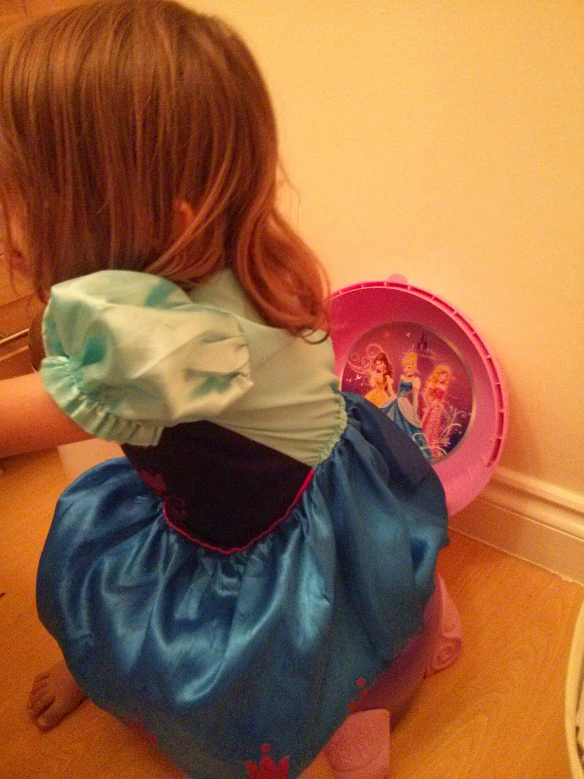 Princess on Potty