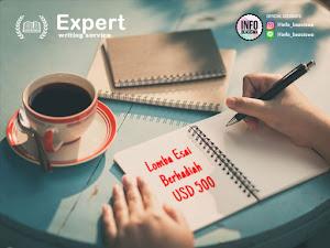 Lomba Menulis Esai dari Expert Writing Service. Hadiah pertama USD 500