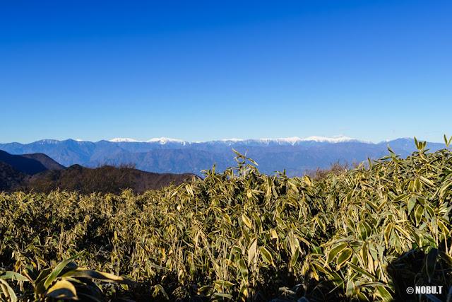 竜ヶ岳(山梨)からの南アルプスの景色
