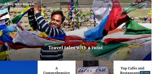 A boy who travels