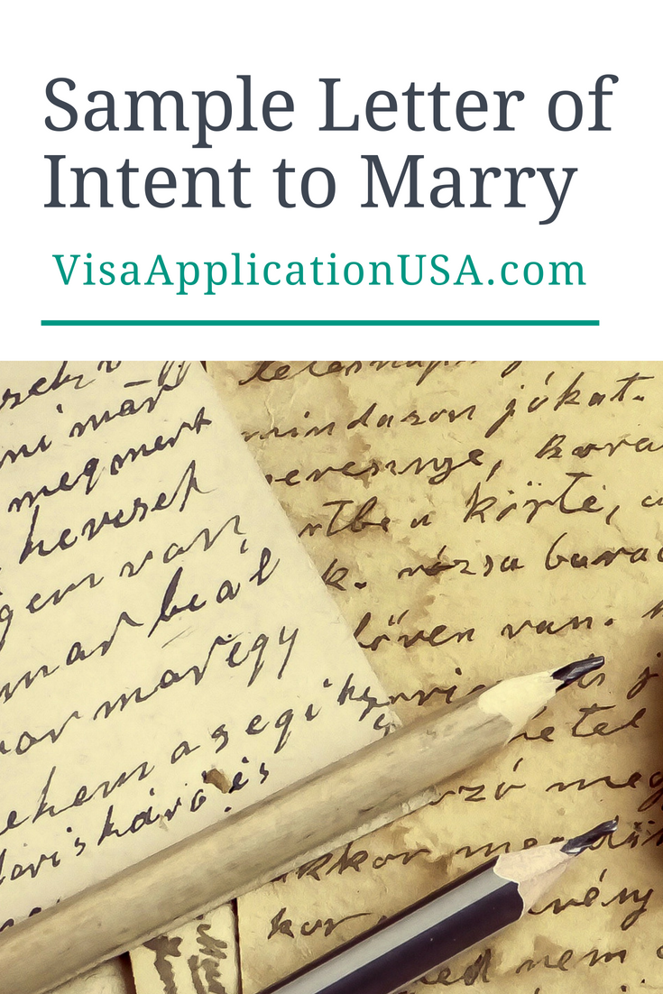 Sample letter of intent to marry note remember documents submitted to uscis must be in english any documents not in english must be translated spiritdancerdesigns Images