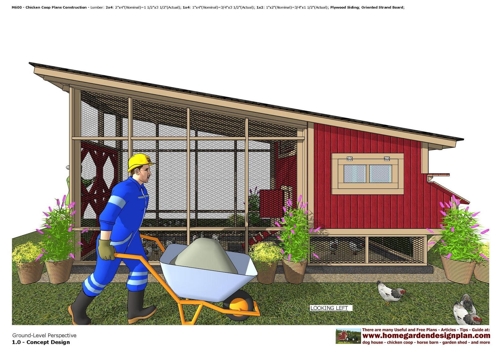 M600   Free Chicken Coop Plans Construction