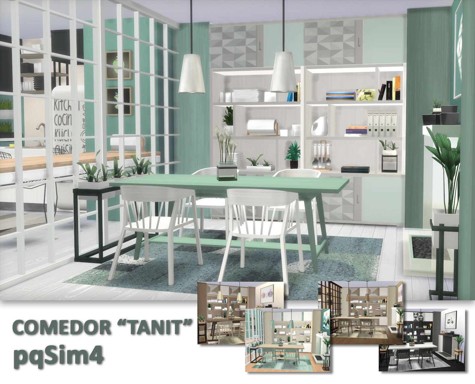 dining room tanit sims 4 custom content