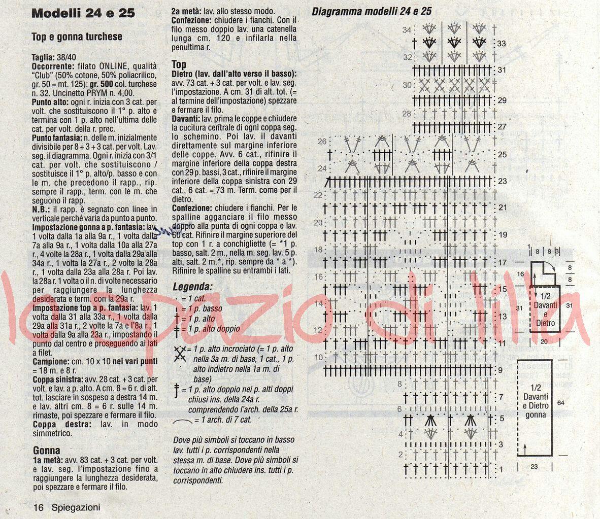 Lo spazio di lilla gonna e top all 39 uncinetto per l 39 estate for Top all uncinetto schemi