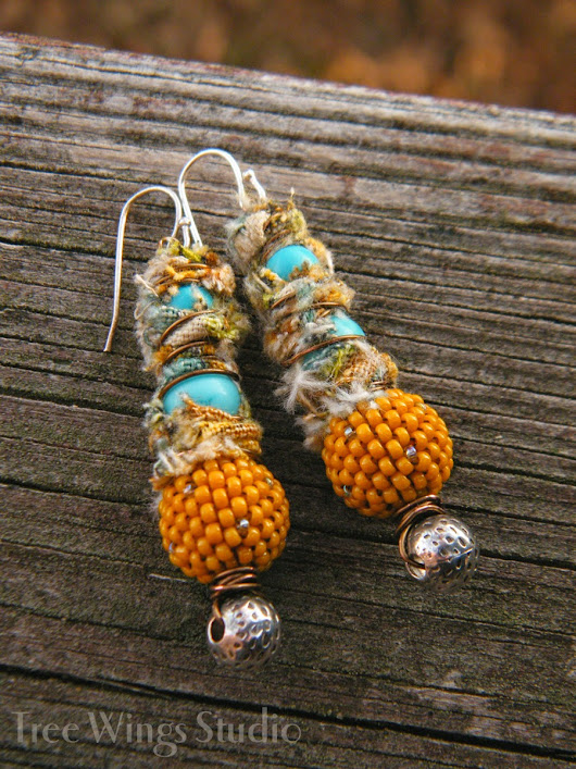 Make Your Own ~ Country Goldenrod Earrings