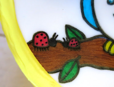Owls & Ladybugs Teacher Appreciation Cake - Close Up of Ladybugs