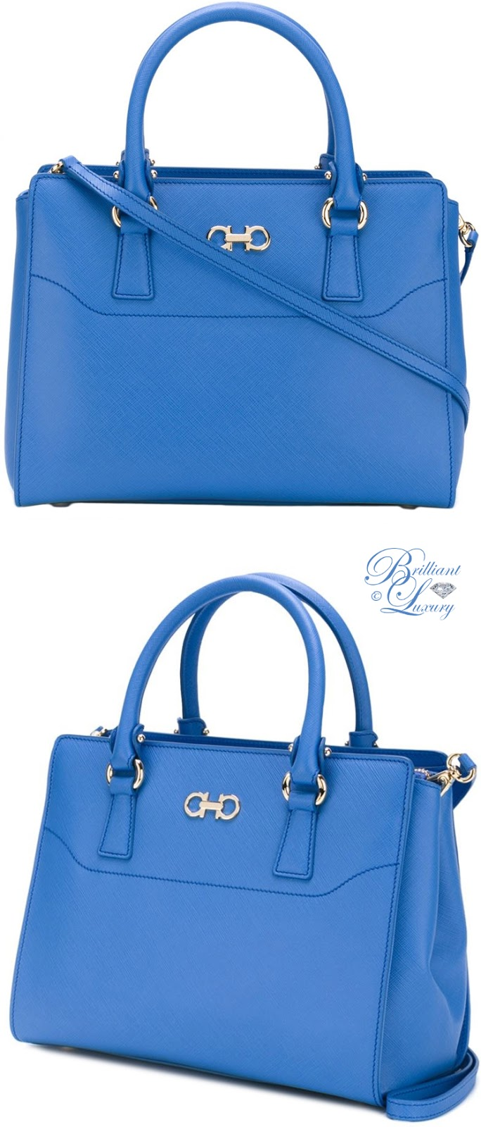 Brilliant Luxury ♦ Salvatore Ferragamo double Gancio tote