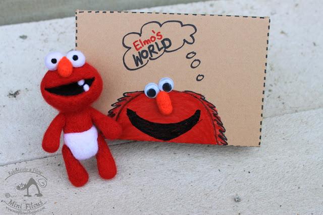 Elmo w Pampersie – Filcowy Brelok