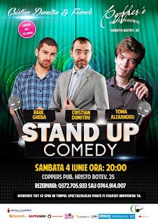Stand-Up Comedy Sambata 4 Iunie Bucuresti