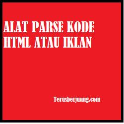 Cara membuat alat parse kode script HTML Blogger