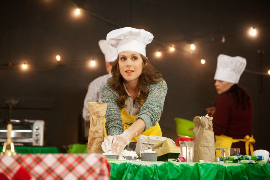 A COOKIE CUTTER CHRISTMAS (2014). Erin Krakow stars in this seasonal romance movies with David Haydn-Jones. All text is © Rissi JC and RissiWrites.com