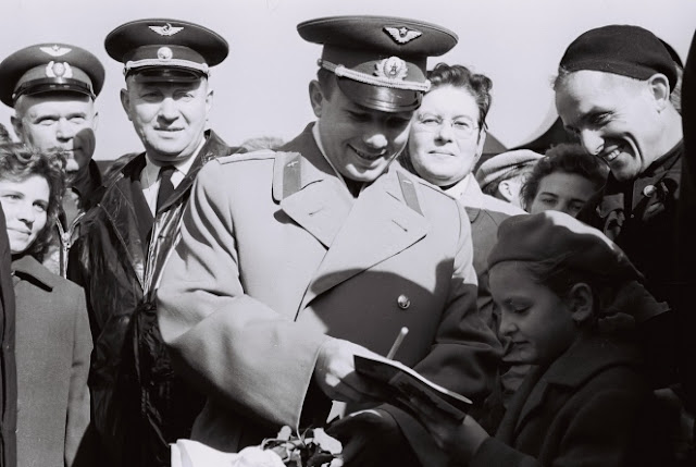 Юрий Гагарин в Риге