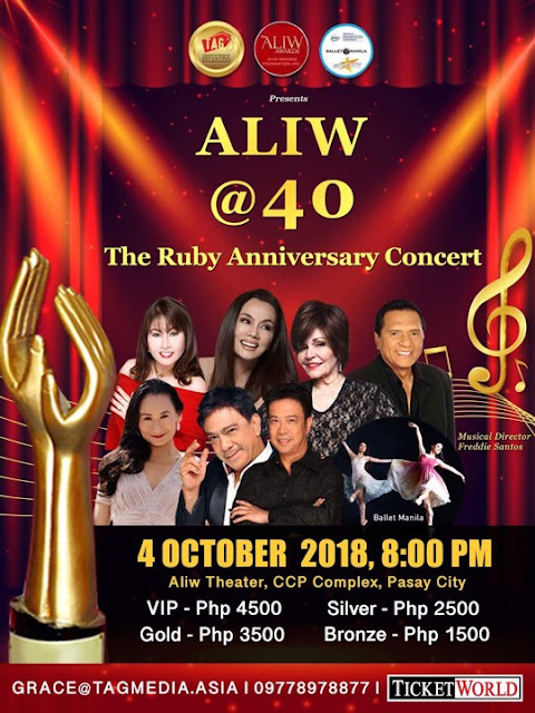 Aliw @40 Concert on October 4, 2018