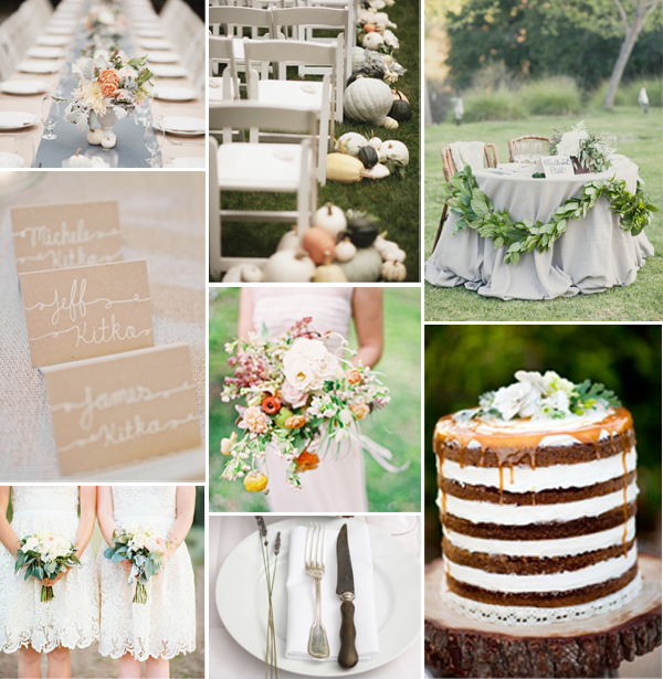 elegant fall wedding inspiration board by Love and Lavender for Oh Lovely Day