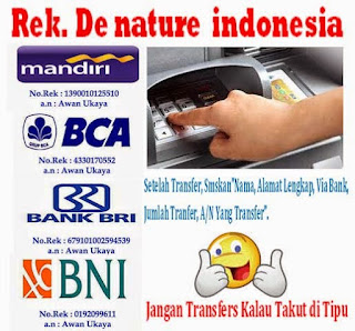 Rekening DeNature Indonesia atas nama Awan Ukaya