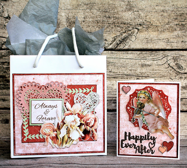 Always And Forever Giftbag and Card by Ulrika Wandler using BoBunny Only You Collection