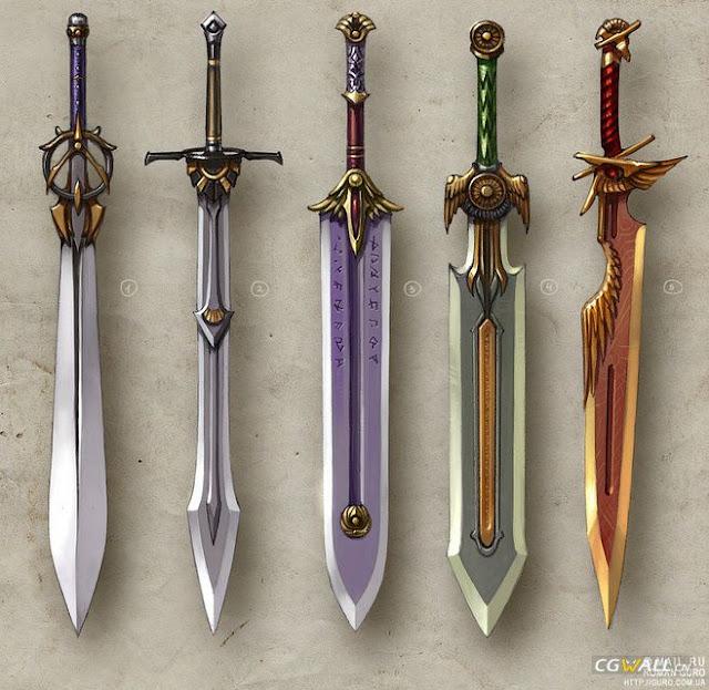 Crie uma história tão bela quanto estas espadas. Afinal, espadas assim não são encontradas em qualquer lugar.