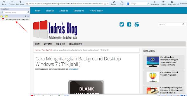 ScrapBook: Cara Mudah Menyimpan dan Membaca Website Secara Offline