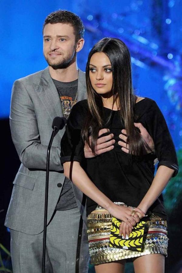 Secret newz: Justin Timberlake Grope Mila Kunis Boobs In