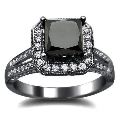 Cheap Black Diamond Wedding Rings