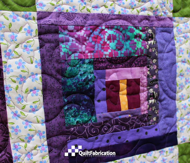 Purple Passionflower quilting