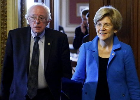 Sanders joined with Warren