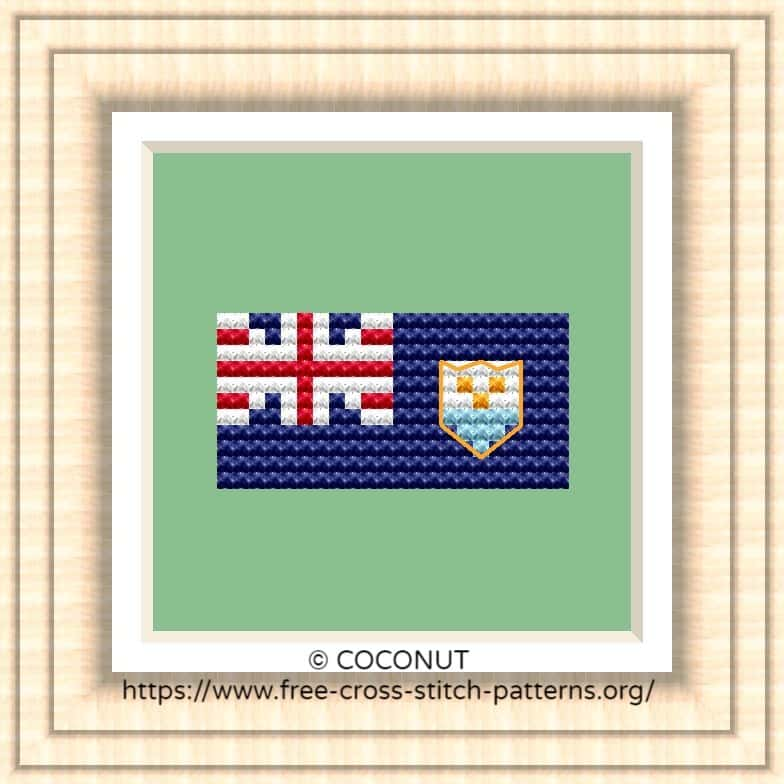 NATIONAL FLAG OF ANGUILLA CROSS STITCH CHART