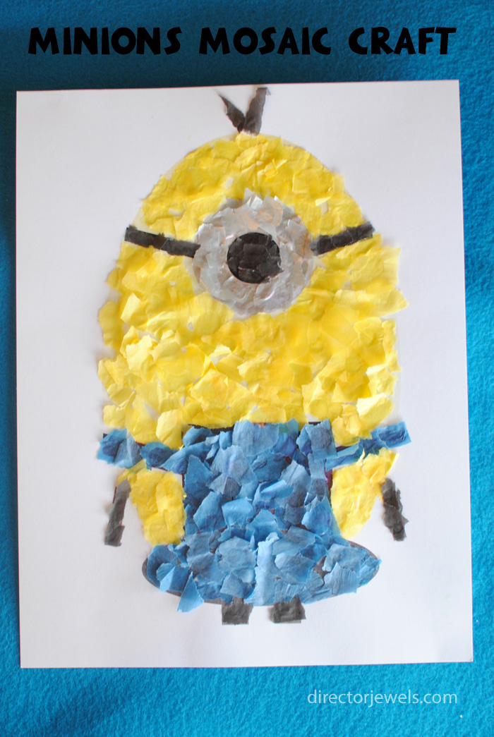 Minions Mosaic Preschool Craft | Minions Despicable Me Party Ideas at directorjewels.com