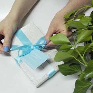 Coś niebieskiego na szczęście dla Panny Młodej :-)
