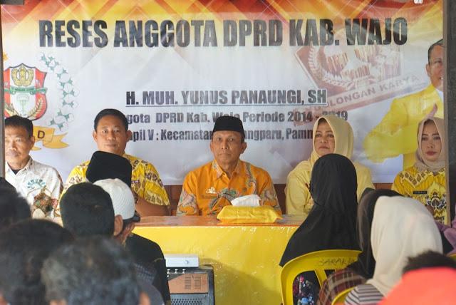 Reses di Daerah Pemilihan, Ketua DPRD Wajo Dapat Saran Seperti ini dari Masyarakat