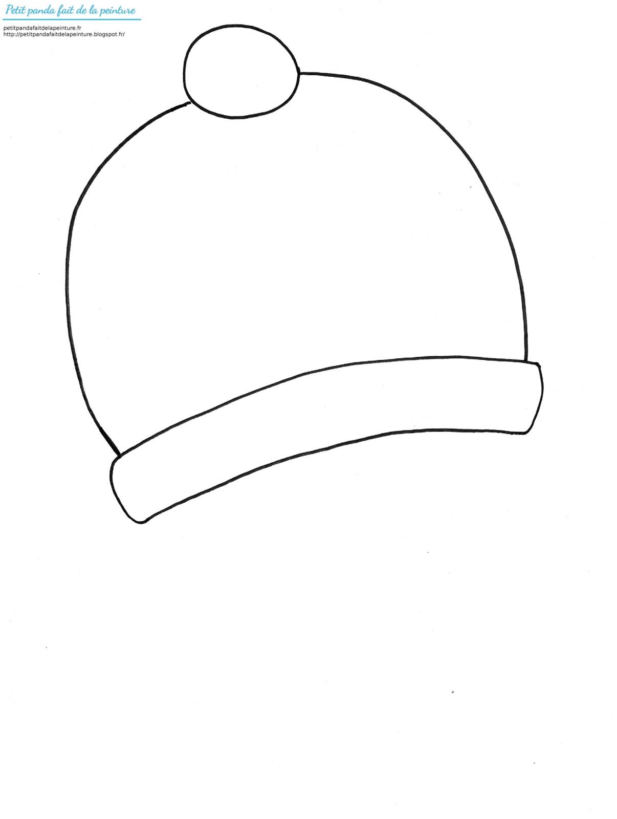 Petit panda fait de la peinture theme hiver un bonnet a - Dessin de bonnet ...