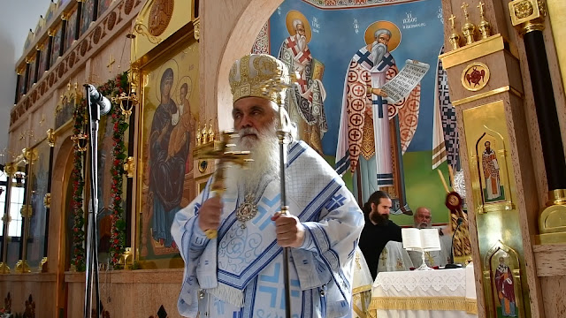 Αρχιερατική Θεία Λειτουργία στον Άγιο Λουκά από τον Μητροπολίτη Αργολίδας Νεκτάριο (βίντεο)