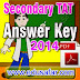 Secondary TAT-2014 Official Answer key Declared