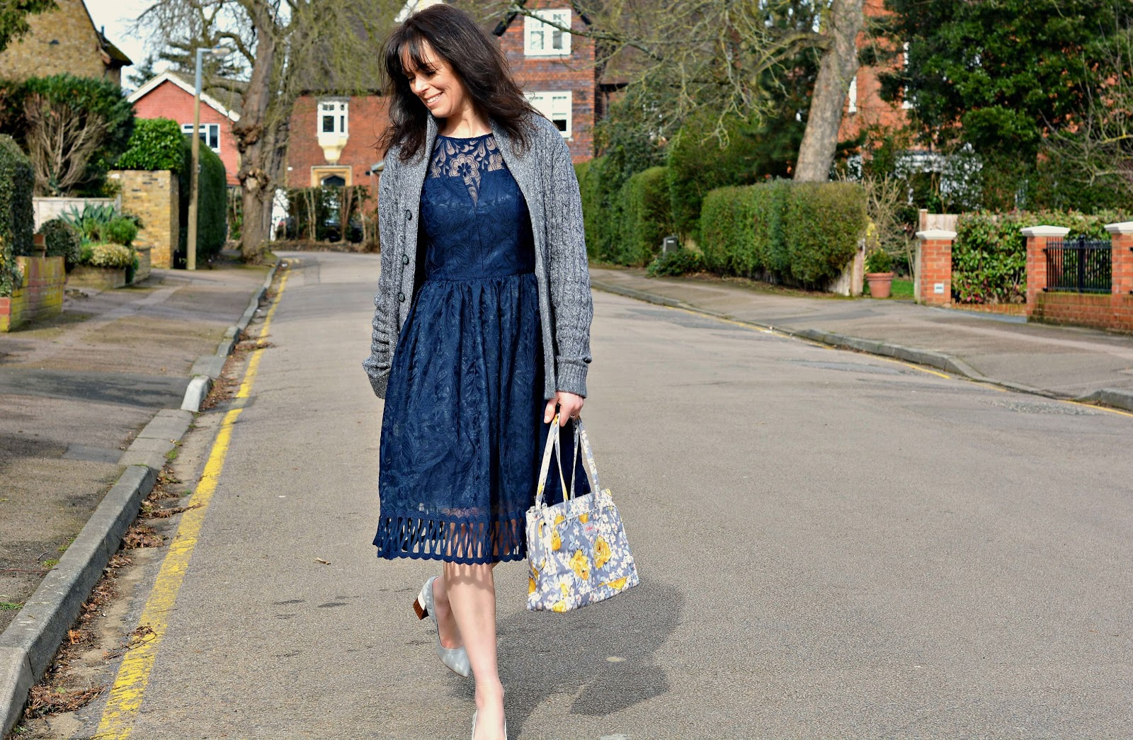 Aspire style dress and Cath Kidston bag