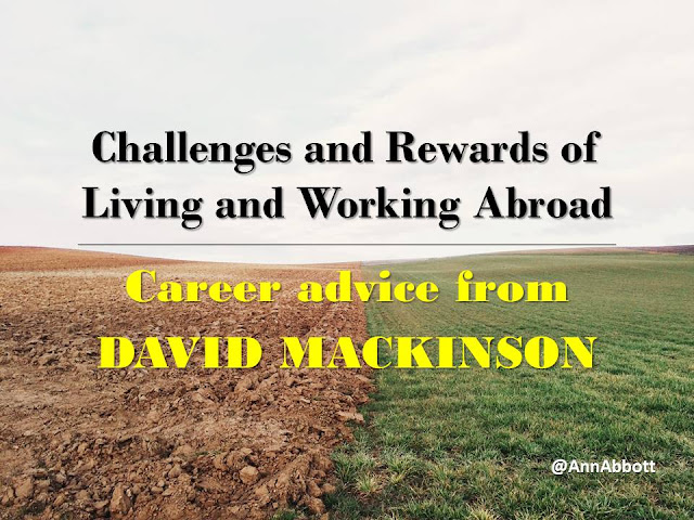 Challenges and Rewards of Living and Working Abroad Career advice from David Mackinson, image shows a flat field with half plowed and half grass
