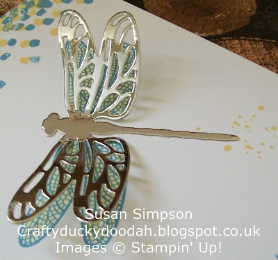 Stampin' Up! UK Independent Demonstrator Susan Simpson, Craftyduckydoodah!, Dragonfly Dreams, Detailed Dragonfly Thinlets Dies, Gorgeous Grunge, Supplies available 24/7,
