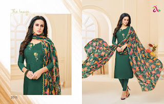 Angroop plus dairy milk vol 26 Churidar dress material