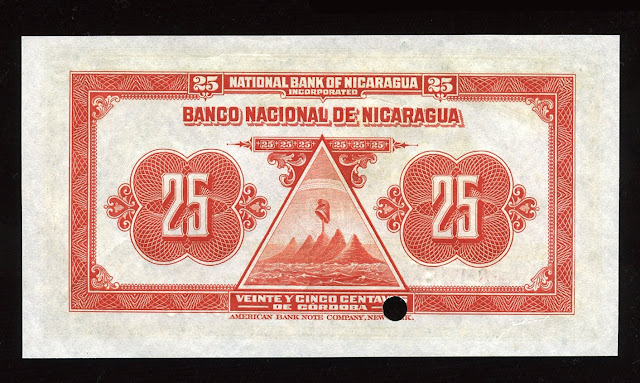 Nicaragua Fractional currency 25 Centavos de Cordoba